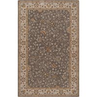 Hand-tufted Passat Brown Wool Area Rug - 4' x 6'