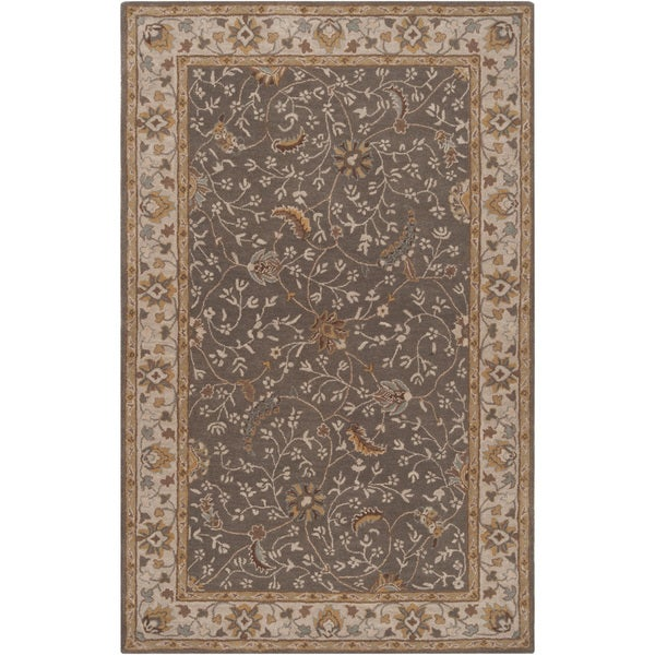 Hand-tufted Passat Brown Wool Rug-(4' x 6')