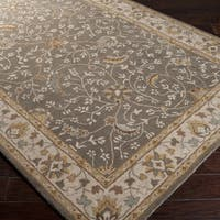 Hand-tufted Passat Brown Wool Area Rug (10' x 14')