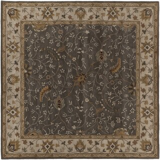 Hand-tufted Passat Brown Wool Rug-(4' Square)