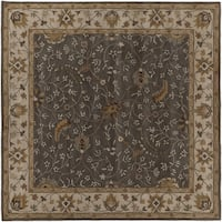 Hand-tufted Passat Brown Wool Area Rug - 4' Square