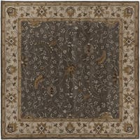 Hand-tufted Passat Brown Wool Area Rug (6' Square)