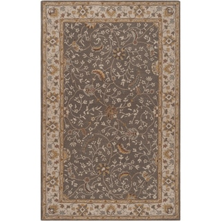 "Hand-tufted Passat Brown Wool Rug-(7'6"" x 9'6"")"