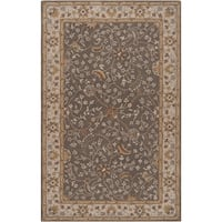 Hand-tufted Passat Brown Wool Area Rug (7'6 x 9'6)