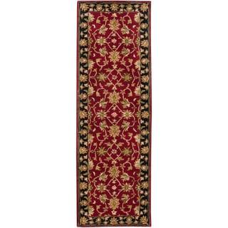 Hand-tufted Tivoli Scarlet Wool Rug (2'6 x 8')