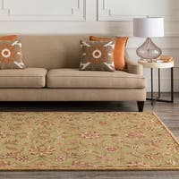 "Hand-tufted Bisceglie Army Green Wool Area Rug - 3'3"" x 5'3"""
