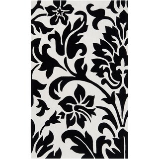 Hand-tufted Alveringem Coal Black Rug (9' x 13')