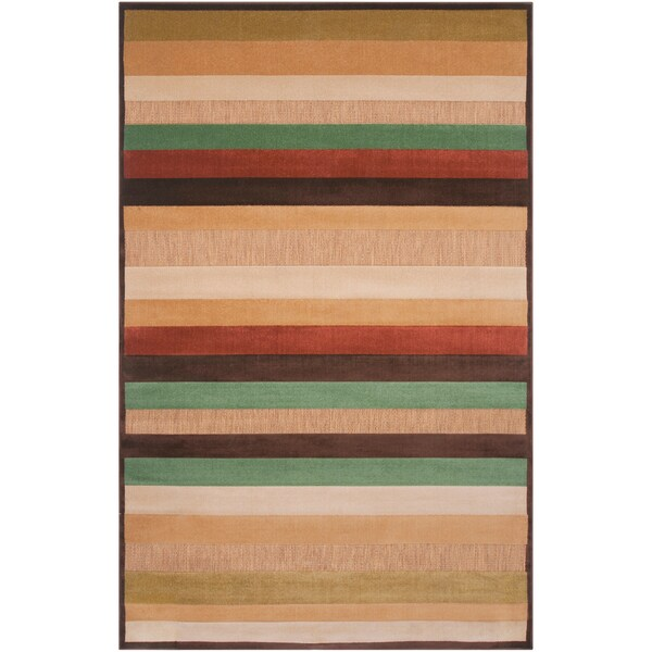 Velletri Mulitcolored Stripe Indoor/Outdoor Area Rug - 7'10 x 10'8