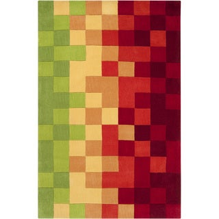 Hand-tufted Amay Multicolor Geometric Rug (9' x 13')