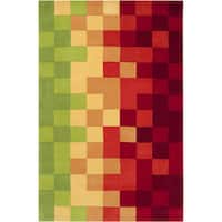 Hand-tufted Amay Multicolor Geometric Area Rug - 9' x 13'
