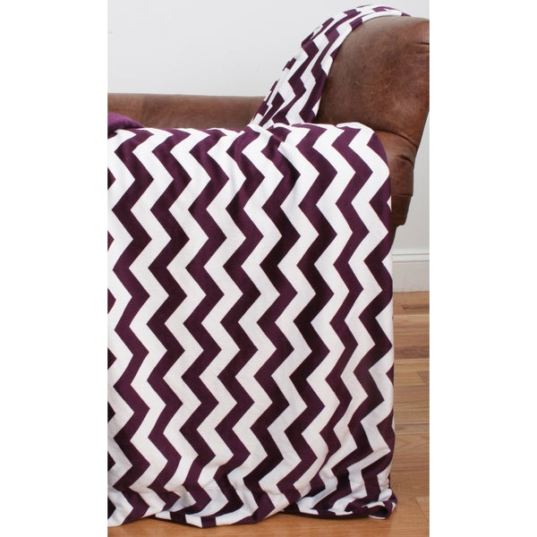 Chevron Microplush 44 x 60-inch Throw