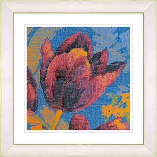 Studio Works Modern 'Blue Tulip - Orange' Framed Print