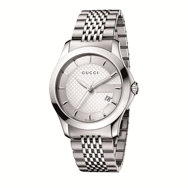 885186d5f5e Shop Gucci Men s Stainless Steel G-Timeless Watch - silver - Free Shipping  Today - Overstock - 7621434