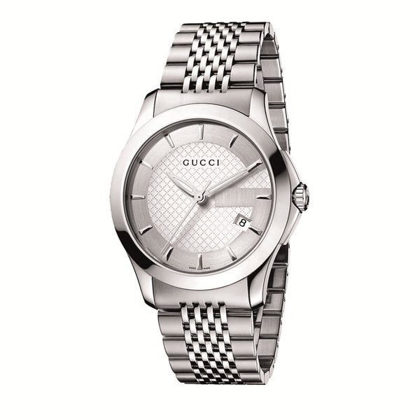 3e29a6f8924 Shop Gucci Men s Stainless Steel G-Timeless Watch - silver - Free Shipping  Today - Overstock - 7621434