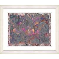 Studio Works Modern 'Summer Field on Lace - Orange' Framed Print
