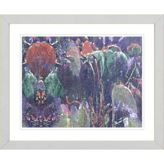 Studio Works Modern 'Garden Ephemera - Blue' Framed Print