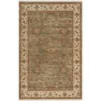 Hand-knotted Misset Asparagus Green New Zealand Wool Area Rug - 2' x 3'