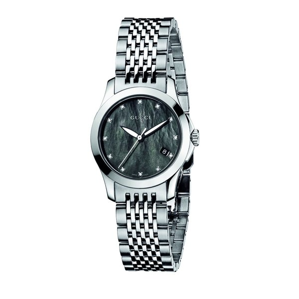 2352a029b5f317 Shop Gucci Women s Stainless Steel Diamond Watch - Free Shipping Today -  Overstock - 7621489