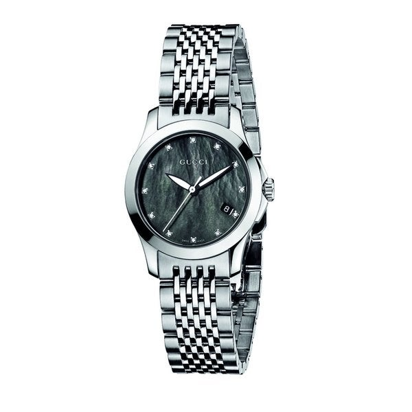 f1b13038717 Shop Gucci Women s Stainless Steel Diamond Watch - Free Shipping Today -  Overstock - 7621489