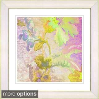 Studio Works Modern 'Flowers of Okavango - Yellow' Framed Print