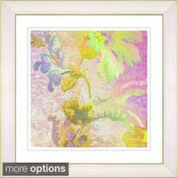 Studio Works Modern 'Flowers of Okavango - Yellow' Framed Print