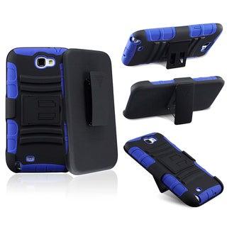 BasAcc Blue/ Black Hybrid Holster for Samsung Galaxy Note II N7100