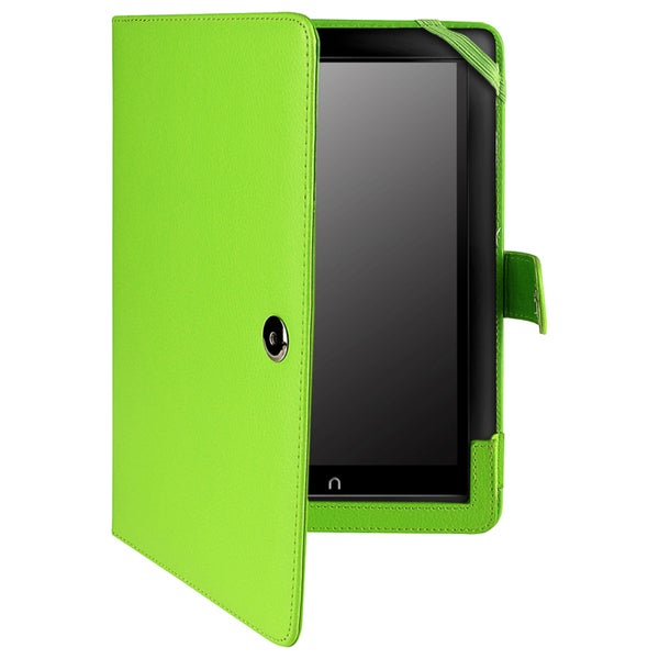 INSTEN Green Leather Phone Case Cover for Barnes & Noble Nook HD+
