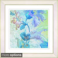 Studio Works Modern 'Flowers of Okavango - Blue' Framed Print