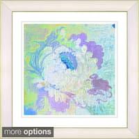 Studio Works Modern 'Iphigenia Pastel - Blue' Framed Print