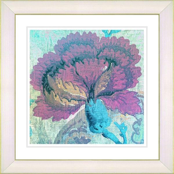 Studio Works Modern 'Maria's Treasure - Turquoise' Framed Print