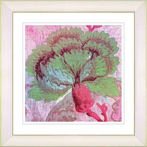 Studio Works Modern 'Maria's Treasure - Red' Framed Print