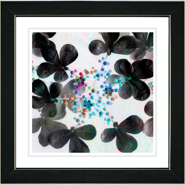 Studio Works Modern 'Summer Walk - Blue Flowers' Framed Print