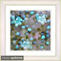 Studio Works Modern 'Popcorn Floral - Turquoise' Framed Print