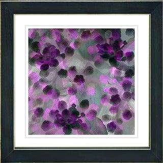 Studio Works Modern 'Popcorn Floral - Purple' Framed Print