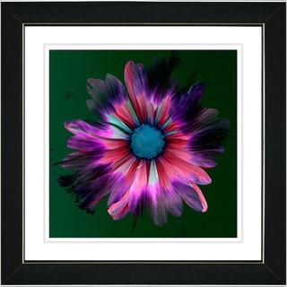 Studio Works Modern 'Fire Flower - Pink' Framed Print