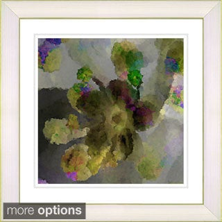 Studio Works Modern 'Floral Study - Yellow' Framed Print