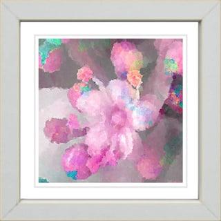 Studio Works Modern 'Pink Pearl Flower' Framed Print