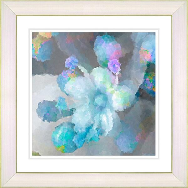 Studio Works Modern 'Blue Pearl Flower' Framed Print