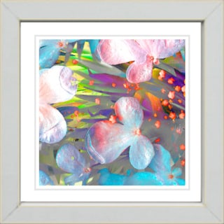 Studio Works Modern 'Party Flower - Orange' Framed Print