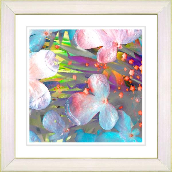 Studio Works Modern 'Party Flower - Orange' Framed Print