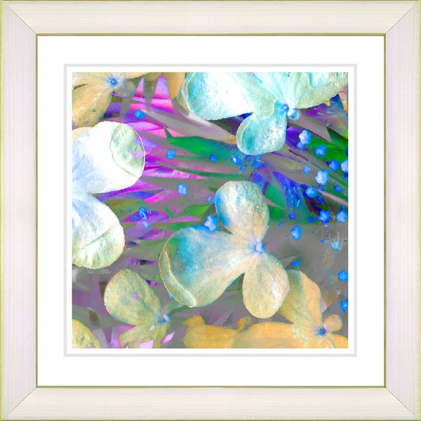 Studio Works Modern 'Party Flower - Blue' Framed Print