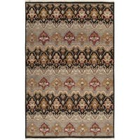Hand-knotted Settat Grey New Zealand Wool Area Rug - 2' x 3'