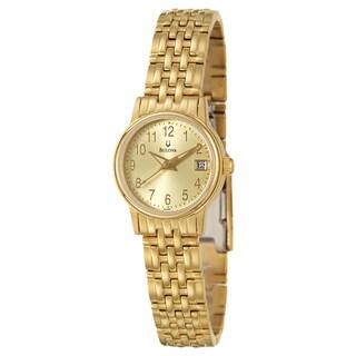 Bulova Women's Goldtone Steel Emeritus Watch