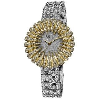 Burgi Women's Dazzling Crystal Quartz Gold-Tone Watch