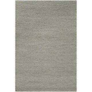 Handwoven Attert1 Pigeon Gray New Zealand Wool Soft Braided Texture Rug (3' x 5')