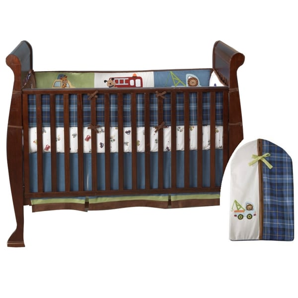 Lambs & Ivy Vroom 5-piece Crib Bedding Set