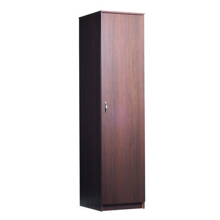 akadaHOME 72-inch Single Door Walnut Storage Cabinet