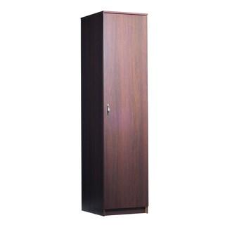 akadaHOME 72-inch Single Door Walnut Storage Cabinet