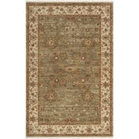 Hand-knotted Misset Asparagus Green New Zealand Wool Area Rug (5' 6 x 8' 6)