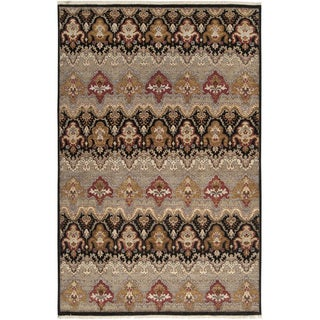Hand-knotted Settat Grey New Zealand Wool Rug (9' x 13')